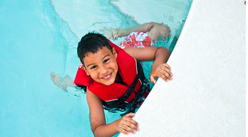 Be smart about water safety near swimming pools