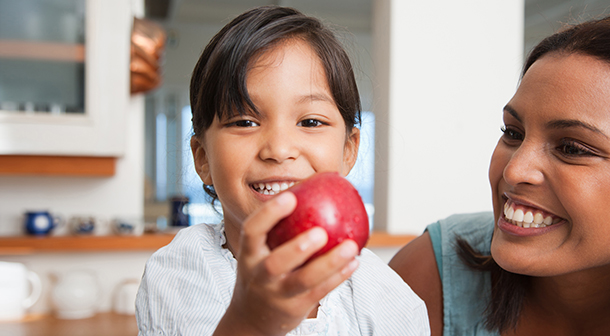 Be prepared with healthy snacks for your kid like apples or fresh veggies.