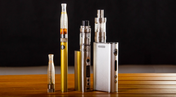 Vape devices come in all shapes, sizes, and colors.